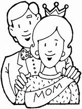 Coloring Pages Dad Mom Parents Getcoloringpages Father sketch template