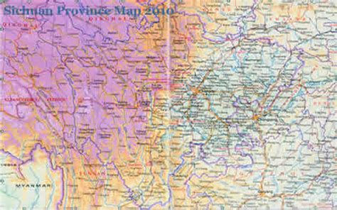 Sichuan Province China Map