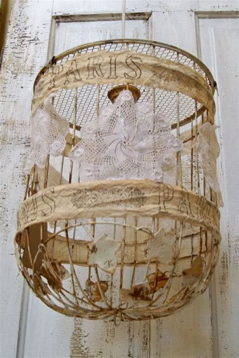 Birdcage Chandelier Shabby Chic by Industrial Farm House Pendant Lighting Bird Cage Swag