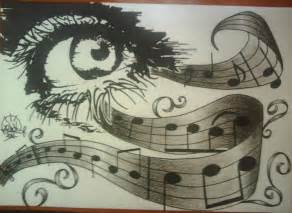 Pencil Drawings Music Notes