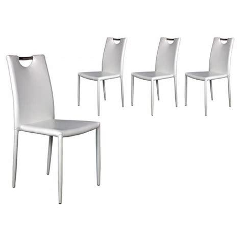 lot 4 chaises blanches lot 4 chaises blanches achat vente chaise salle a manger pas cher couleur et design fr