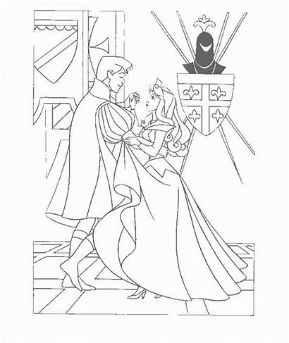Sleeping Coloring Beauty Pages Disney Animated Pages3