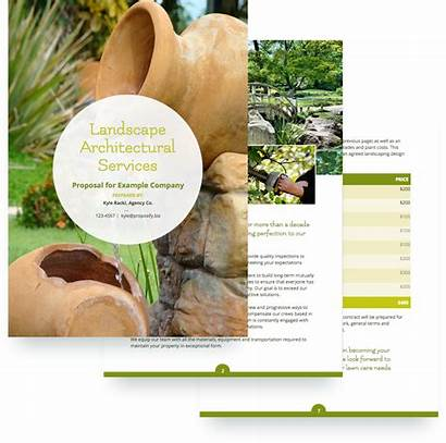 Template Proposal Landscaping Templates Sample