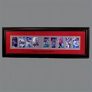 framed letter art 8x32 ohio state photo cut out With ohio state letter art