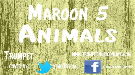 trumpet cover maroon  animals youtube
