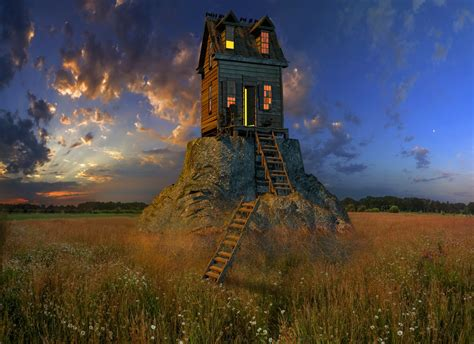 images  house stairs sunset sky field