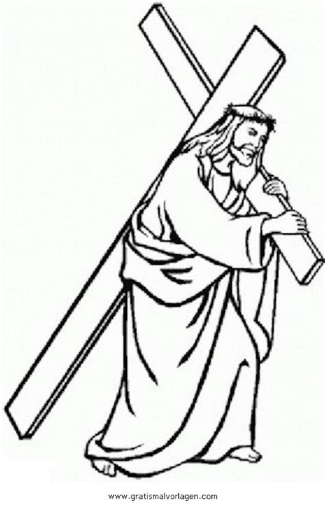 karfreitag  gratis malvorlage  jesus religionen ausmalen