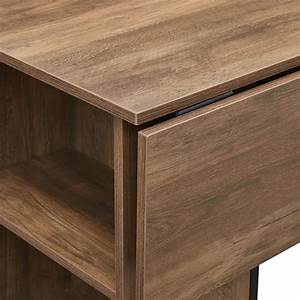 48, Inch, Counter, Height, Drop, Leaf, Table, With, Storage
