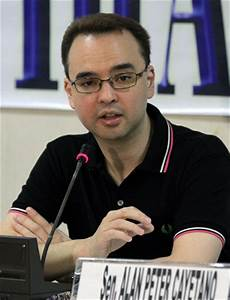 "Sen. Alan Peter Cayetano: ""I want to be president of this ..."