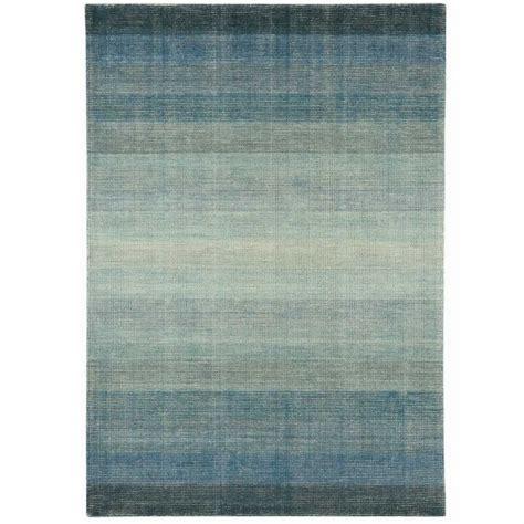 tapis contemporain d 233 grad 233 de bleu en et coton