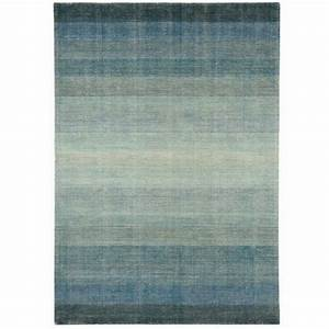 tapis contemporain degrade de bleu en laine et coton With tapis contemporain laine