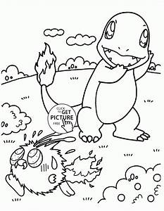 Pokemon Coloring Pages Charmander Printable Free