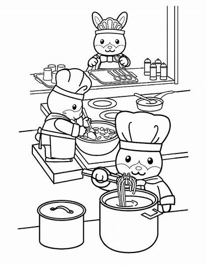 Coloring Kitchen Cooking Pages Cook Printable Chef
