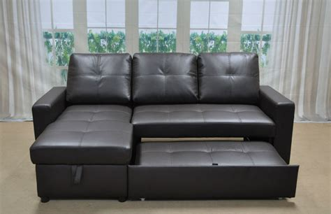 L Shape Sofa Beds by L Shaped Leather Sofa Bed Free Shipping Clic Coffee Color
