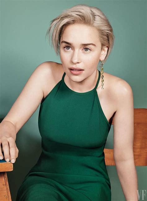 Emilia clarke hair, Short hair styles, Beautiful celebrities