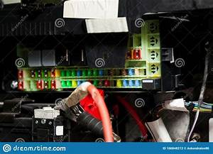 Fuse Box In The Car S Electrical Circuit During Vehicle