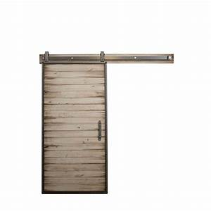 rustica hardware 36 in x 84 in mountain modern white With barn doors and hardware reviews