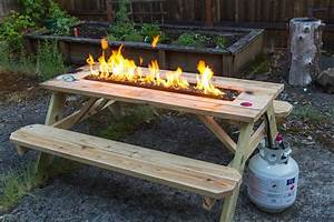 Arson, For, Hire, Fire, Pit, Picnic, Table