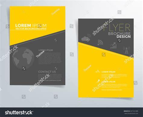 Yellow Brochure Design Vector Millions Vectors Brochure Template Flyer Design Vector Background With