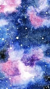 Galaxie, In, Aquarell, U22c6, M, U00e4dchenkunst