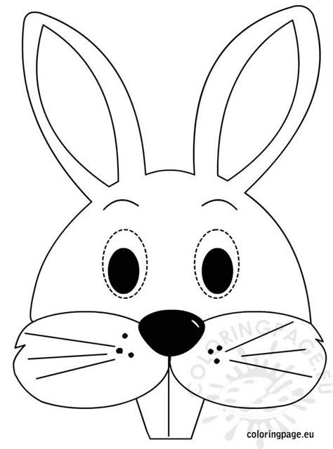 bunny mask coloring page