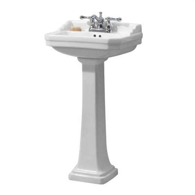 home depot pedestal sink foremost series 1920 pedestal combo bathroom sink in white