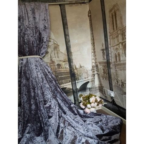 new stunning heavy lilac crushed velvet 113 quot d 76 quot w