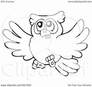 Free coloring pages of flying owl