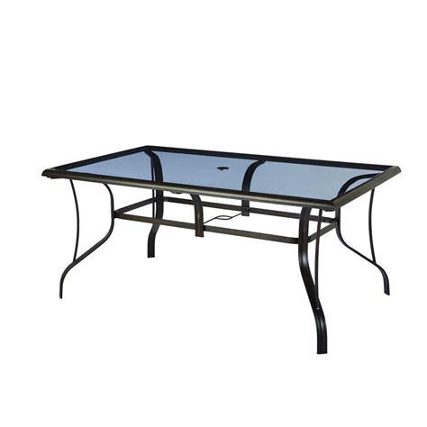 rectangular patio dining table hton bay statesville rectangular glass patio dining