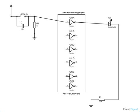 Schmitt Trigger Gate Circuit Diagram Working Explanation
