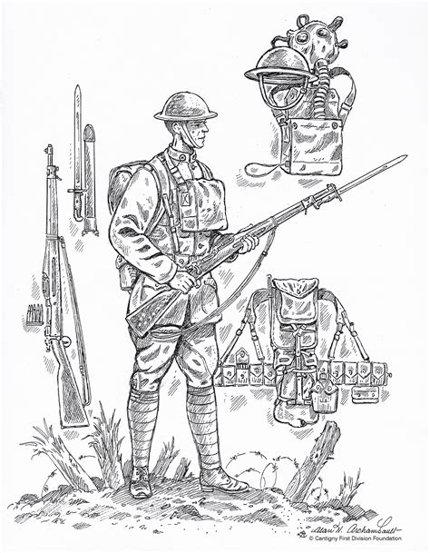 Soldiers Clipart World War 1 Soldier Pencil And In Color
