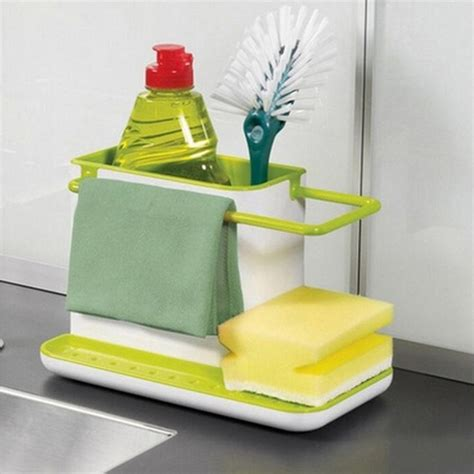 kitchen storage caddy 2016 holder sponge kitchen box draining rack dish self 3130