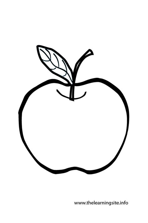 Coloring Clip by Apple Outline Clipart Clipground
