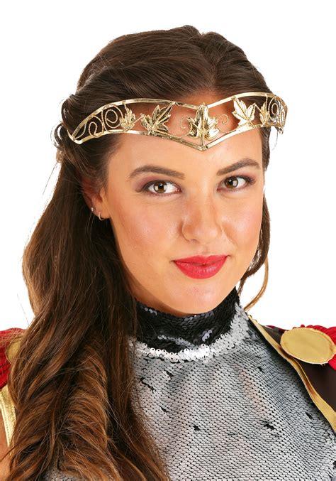 Antique Gold Leaf Crown - Womens Princess Accessories