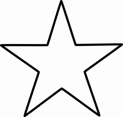 Star Point Template Five Stencil Printable Pointed