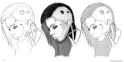 Cyborg Sketches2 By Etchedlines On Deviantart