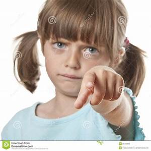 Angry Little Girl Pointing On You Royalty Free Stock Photo ...