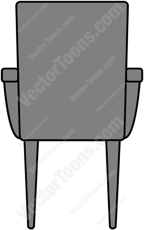 back view of a chair vector clip