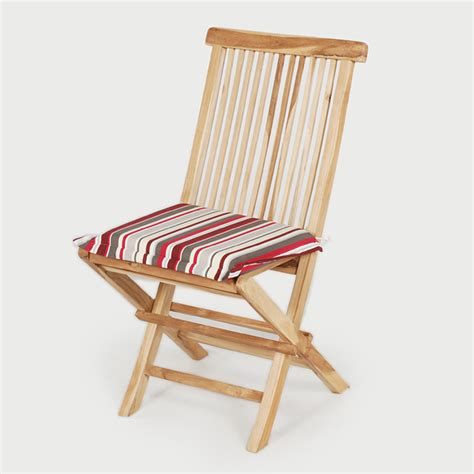 greenfingers teak folding chair with cushion on sale