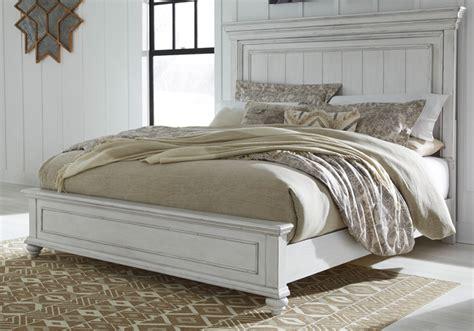 kanwyn whitewash king panel bed cincinnati overstock