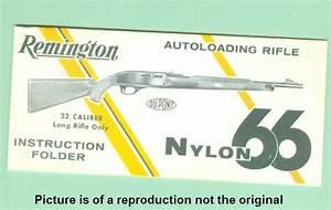 Remington Nylon 66 1950 U0026 39 S Factory Instruction Manu For