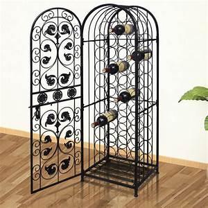 vidaXL.co.uk | Metal Wine Cabinet Rack Wine Stand for 45 ...