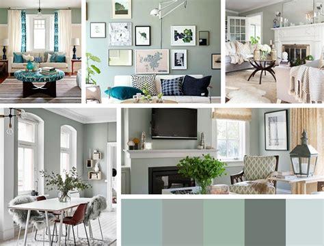 dã co rideaux salon design peinture vert de gris une couleur tendance pour sublimer