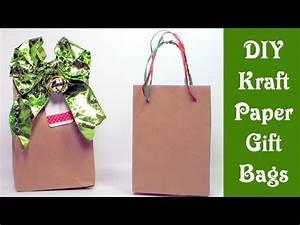 DIY Kraft Paper Gift Bags YouTube