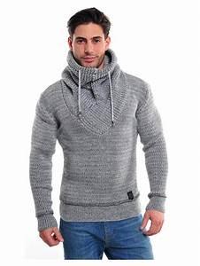 Sweat De Marque Homme : pull homme col ch le tendance de couleur gris r f pu02 ~ Melissatoandfro.com Idées de Décoration