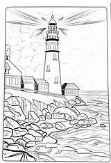 Coloring Adult Pintar Dibujos Paisajes Lighthouse Paris Colorear Adultos Imprimir Mykinglist Printable Faciles Malvorlagen Urlaub Strand Guardado Desde Burning Patterns sketch template