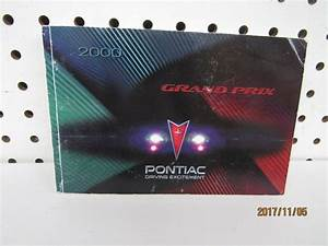 2000 Pontiac Grand Prix Owners Manual  Book Only  Free