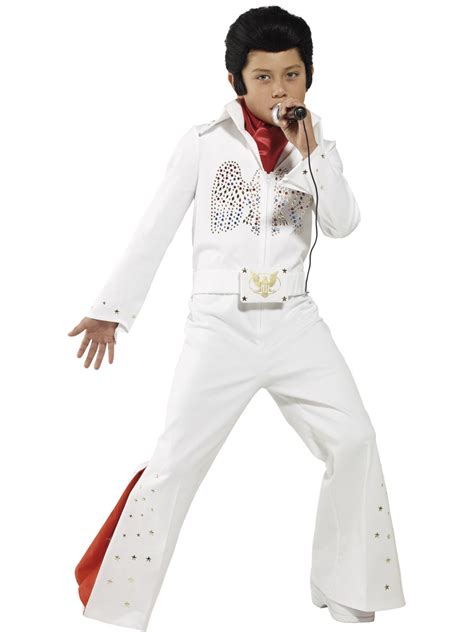 Boys Elvis Outfit Licensed 50s Rock Star Celebrity Kids Fancy Dress Costume | eBay