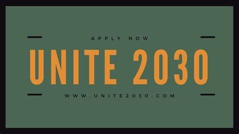 Apply for UNITE 2030 Hackathon Competition 2018 for ...