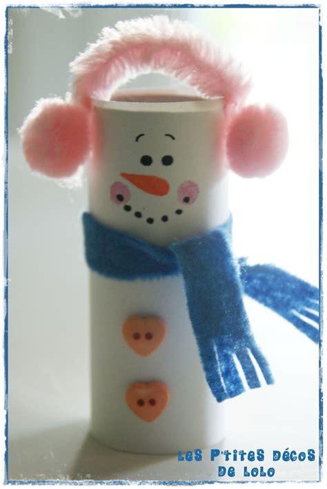 diy faire un bonhomme de neige avec un rouleau de papier toilette les p tites d 233 cos de